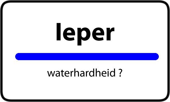 Waterhardheid Ieper Waterverzachter Prijs