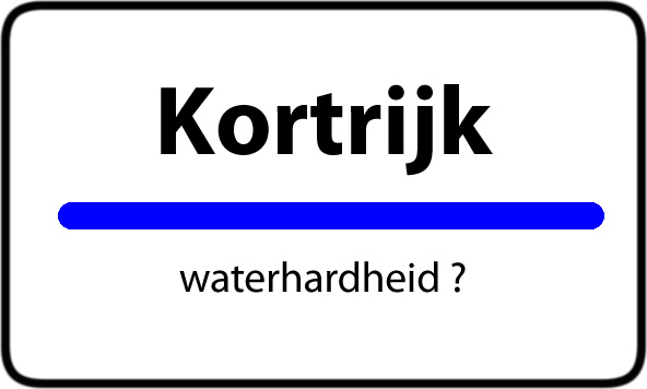 Waterhardheid Kortrijk