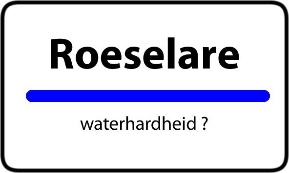 Waterhardheid Roeselare hard water