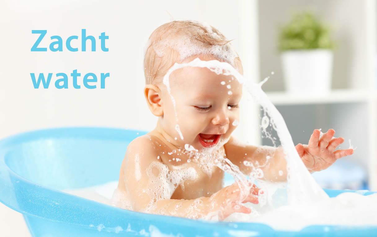 Zacht water met een waterverzachter