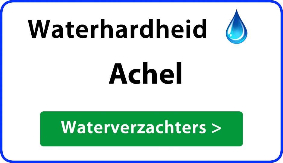 waterhardheid achel waterverzachter