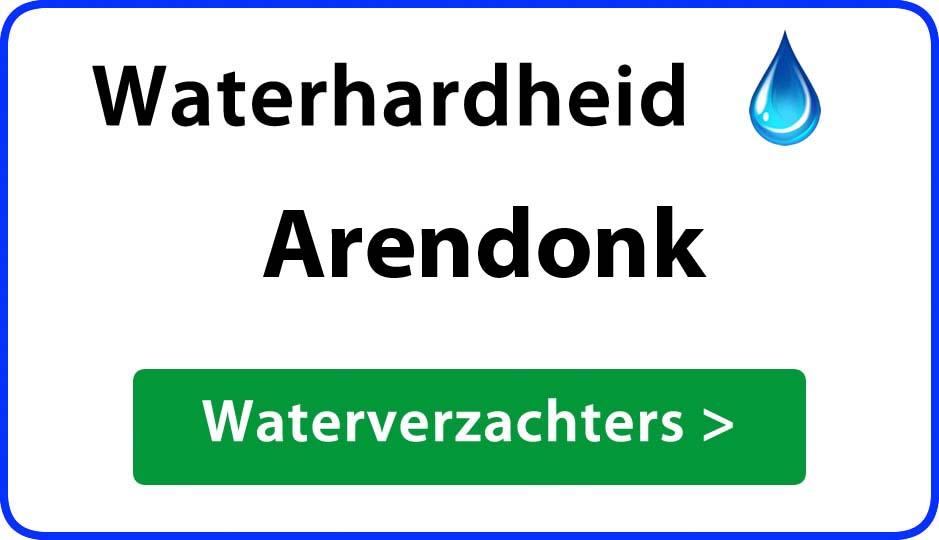 waterhardheid arendonk waterverzachter