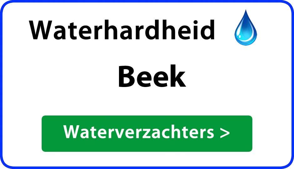 waterhardheid beek waterverzachter