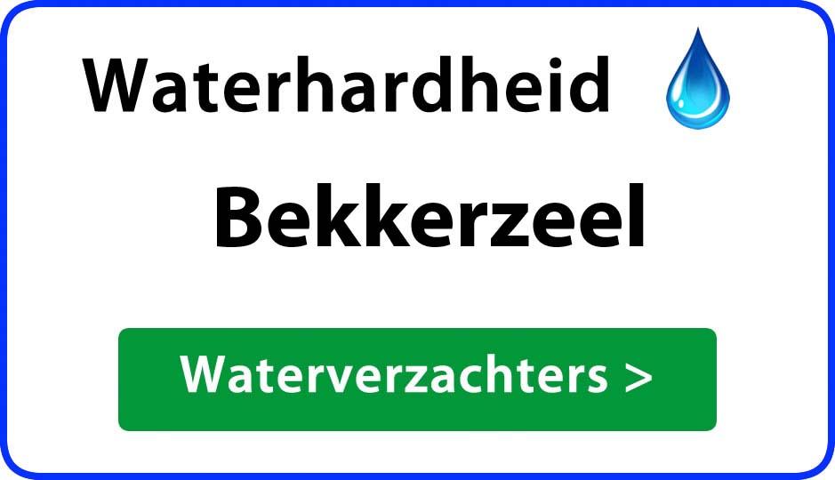 waterhardheid bekkerzeel waterverzachter