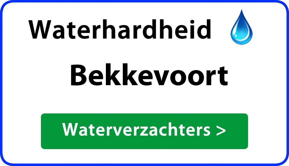 waterhardheid bekkevoort waterverzachter
