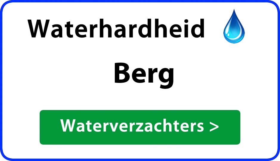 waterhardheid berg waterverzachter
