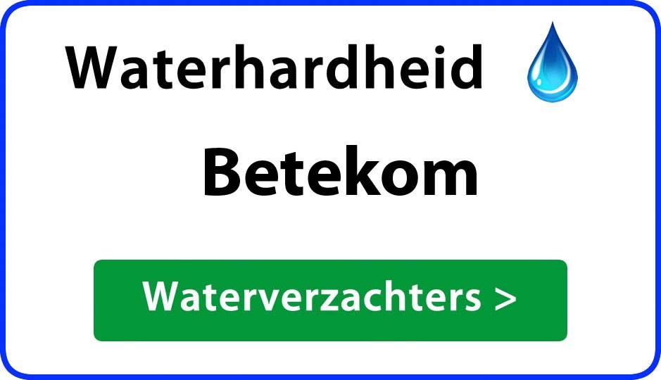waterhardheid betekom waterverzachter