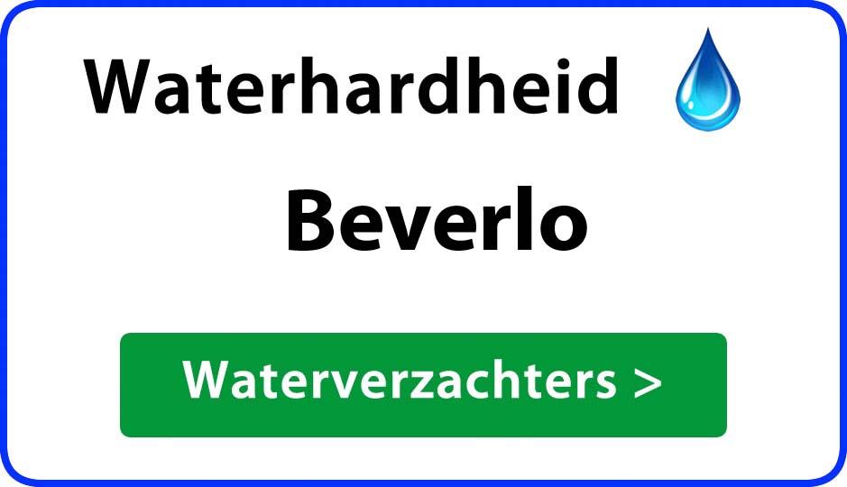 waterhardheid beverlo waterverzachter
