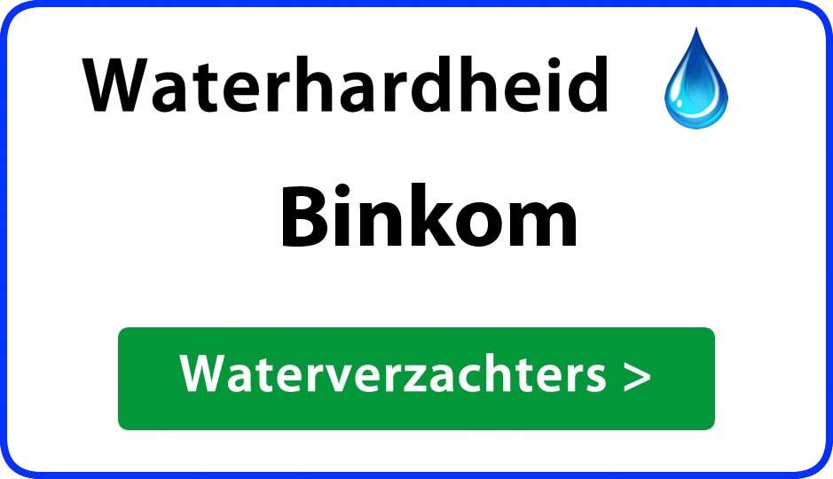waterhardheid binkom waterverzachter