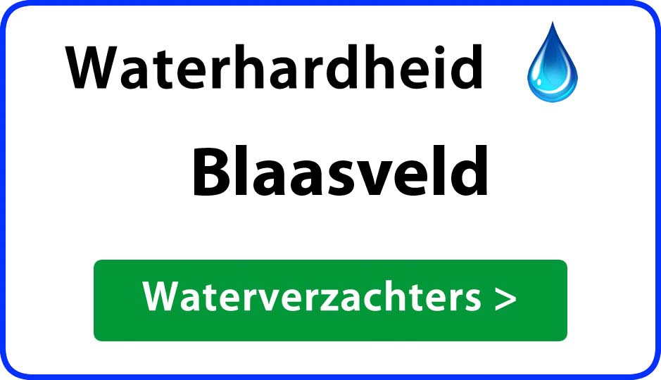 waterhardheid blaasveld waterverzachter