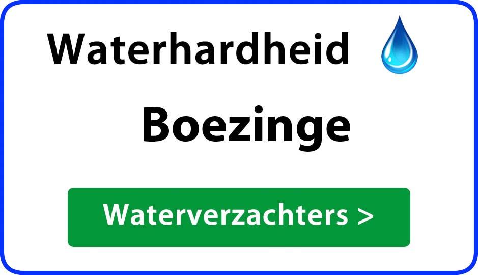 waterhardheid boezinge waterverzachter