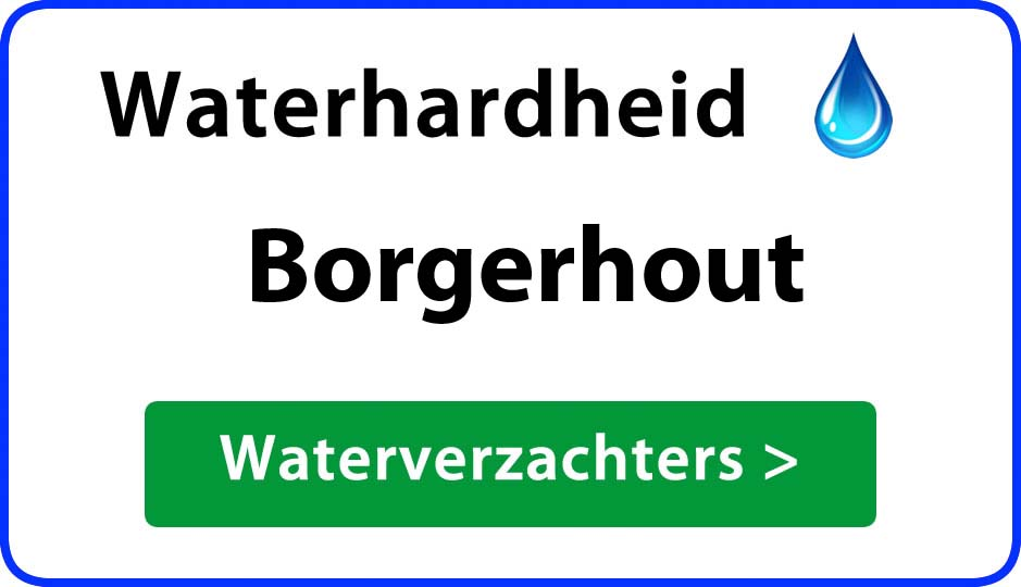 waterhardheid borgerhout waterverzachter