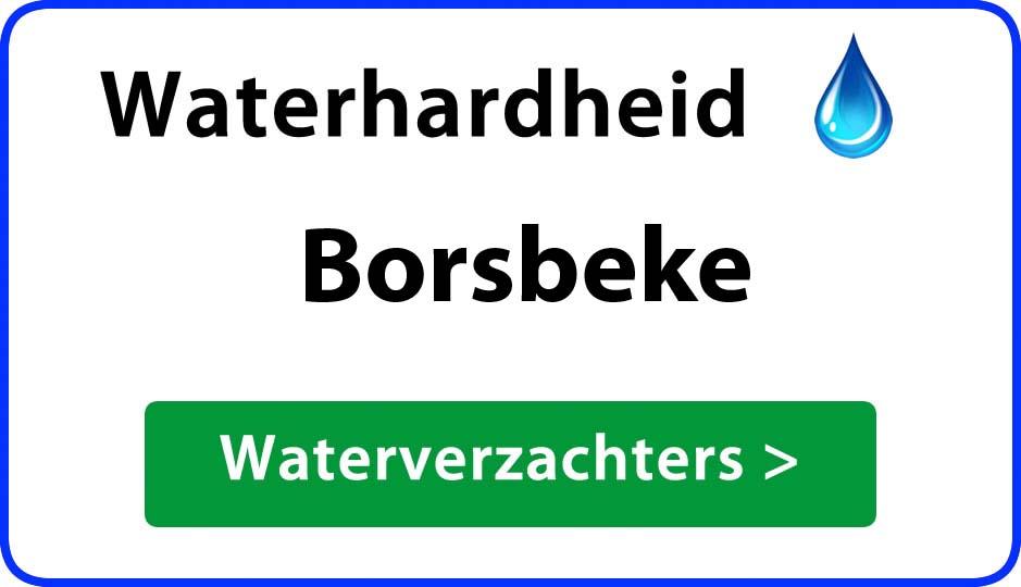 waterhardheid borsbeke waterverzachter