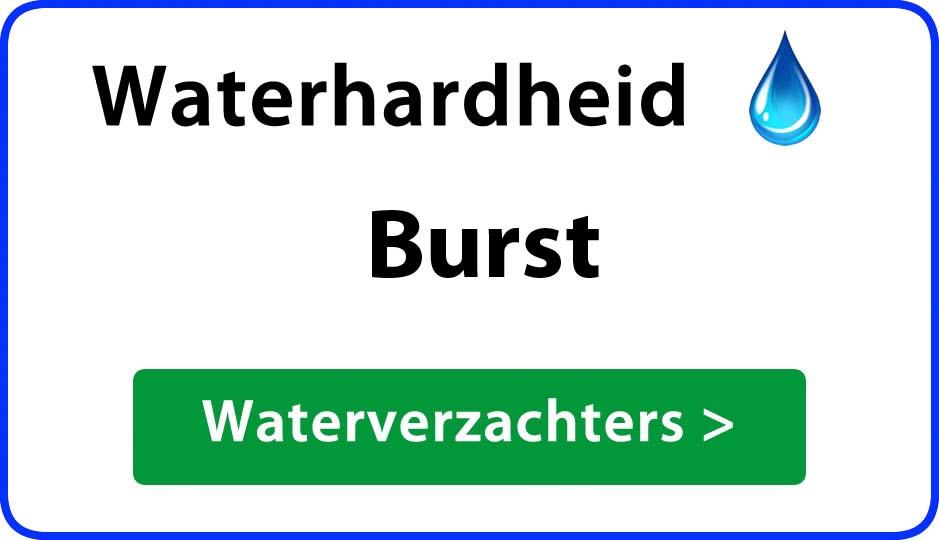 waterhardheid burst waterverzachter