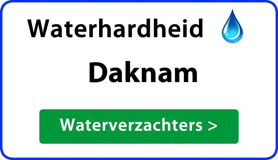 waterhardheid daknam waterverzachter