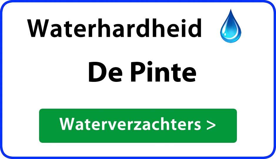 waterhardheid de-pinte waterverzachter