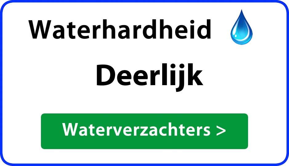 waterhardheid deerlijk waterverzachter