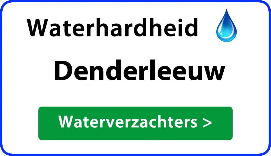 waterhardheid denderleeuw waterverzachter
