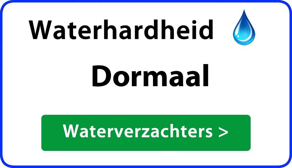 waterhardheid dormaal waterverzachter