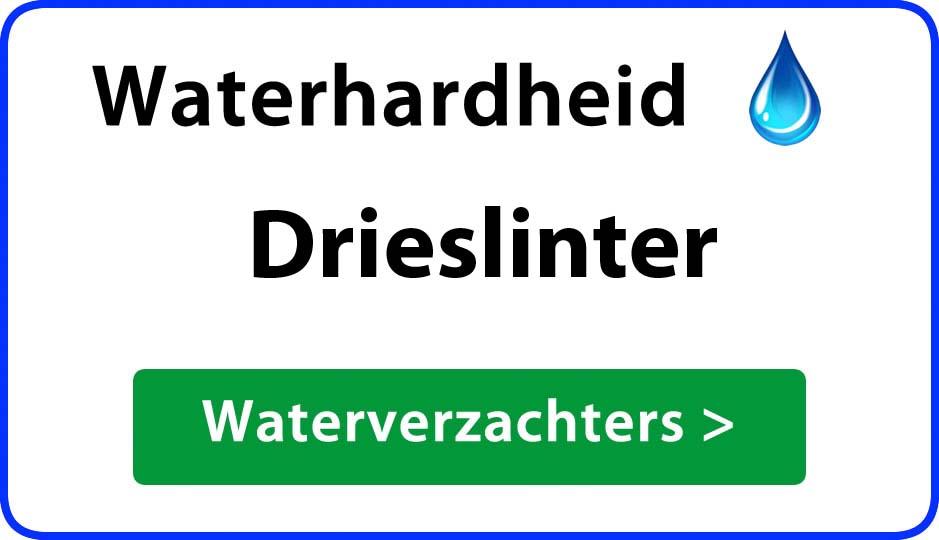waterhardheid drieslinter waterverzachter