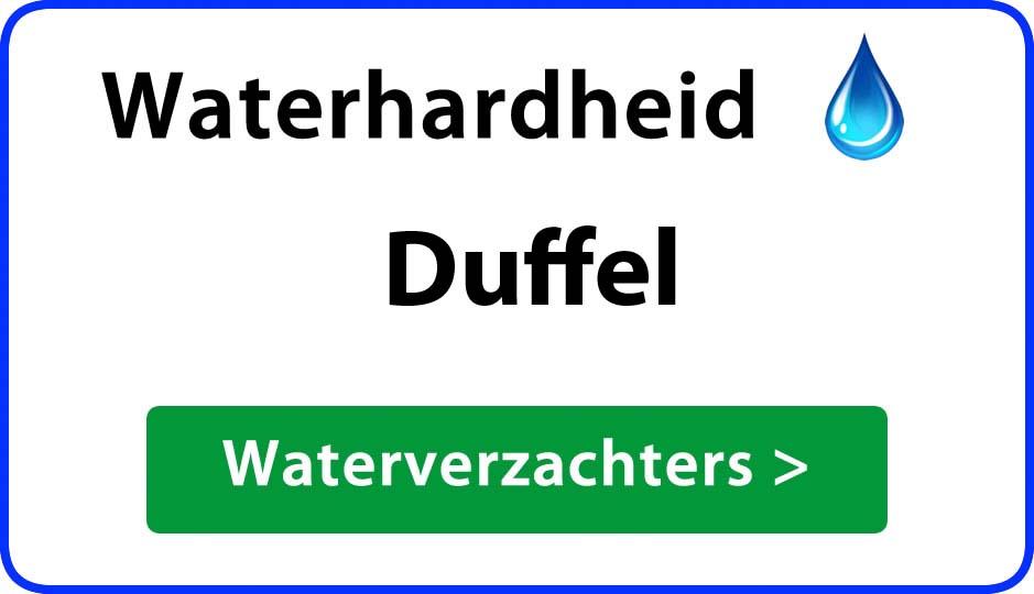 waterhardheid duffel waterverzachter