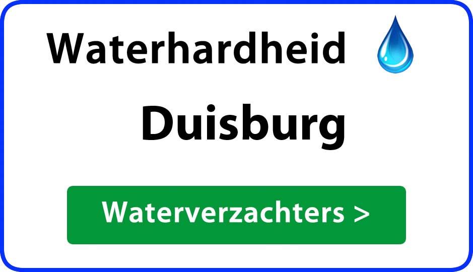 waterhardheid duisburg waterverzachter