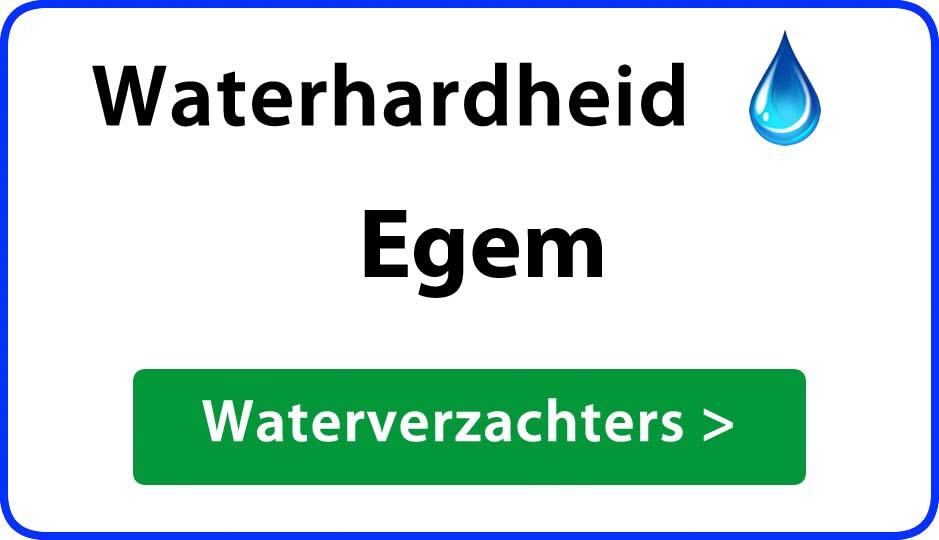 waterhardheid egem waterverzachter