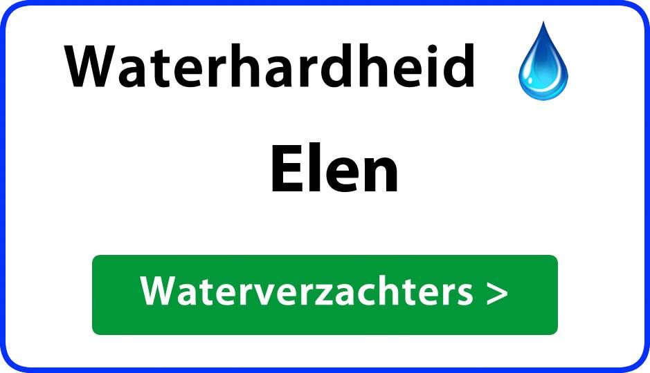 waterhardheid elen waterverzachter