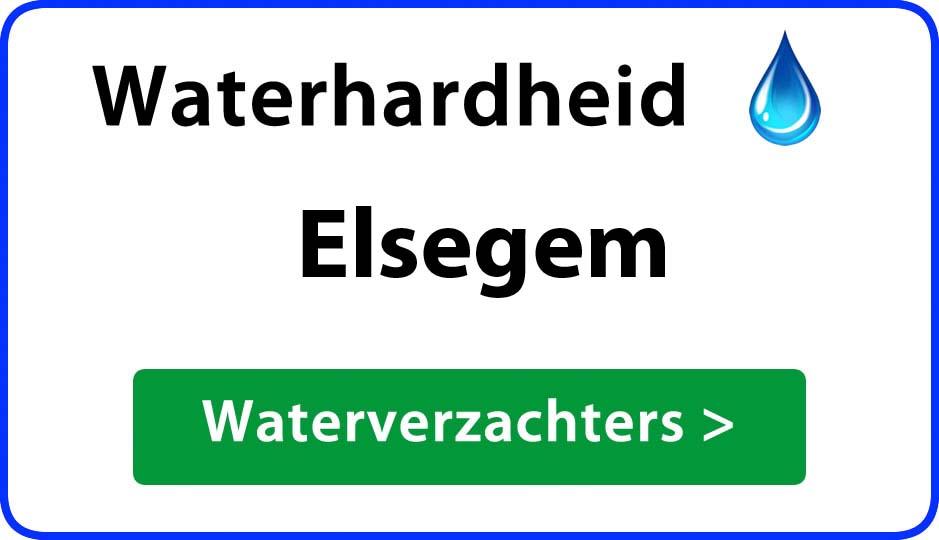 waterhardheid elsegem waterverzachter