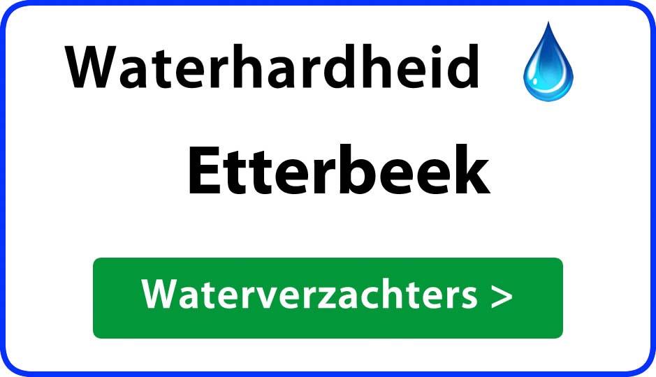 waterhardheid etterbeek waterverzachter