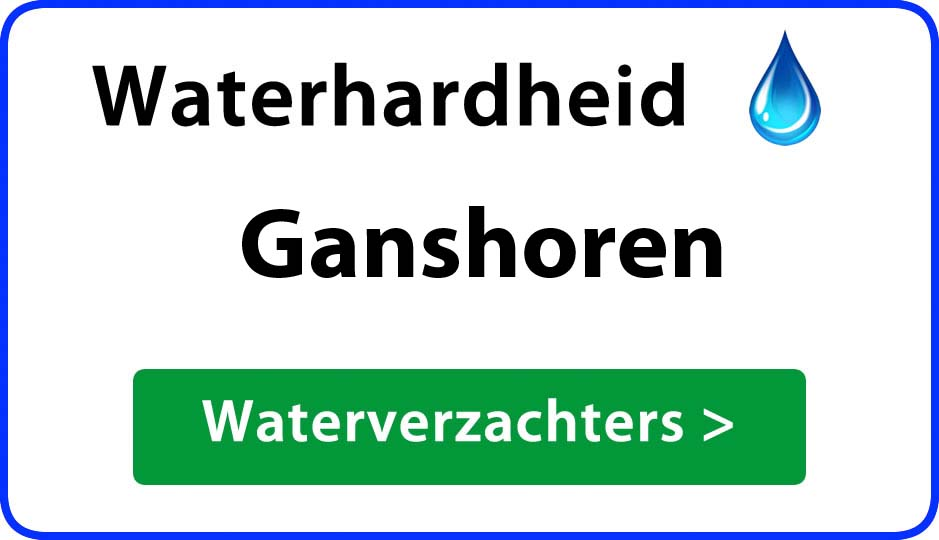 waterhardheid ganshoren waterverzachter