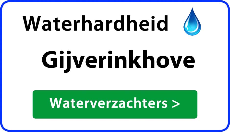 waterhardheid gijverinkhove waterverzachter