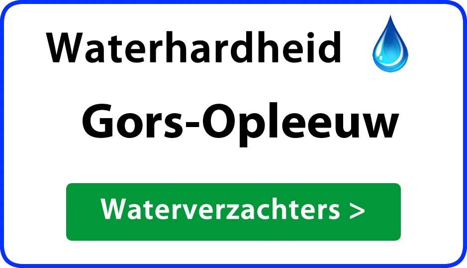 waterhardheid gors-opleeuw waterverzachter