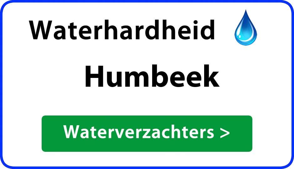 waterhardheid humbeek waterverzachter