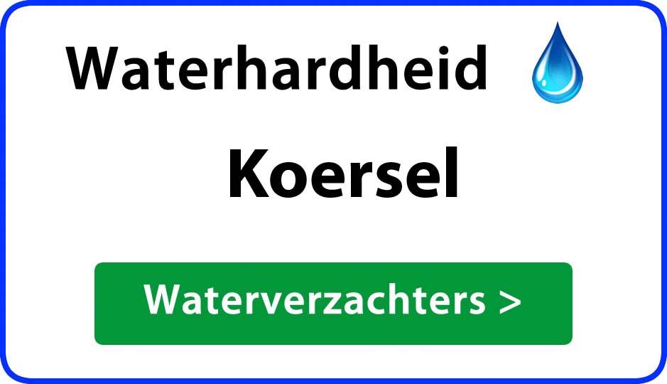 waterhardheid koersel waterverzachter