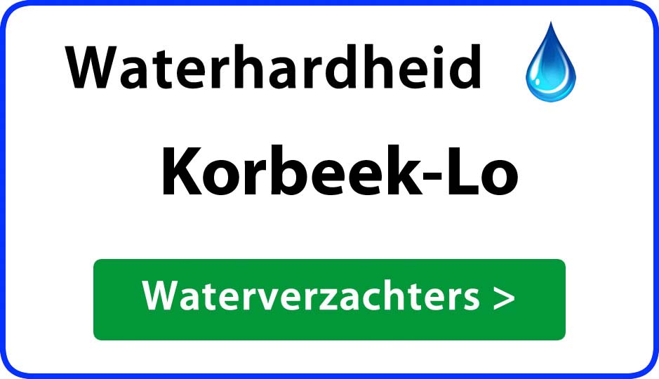 waterhardheid korbeek-lo waterverzachter