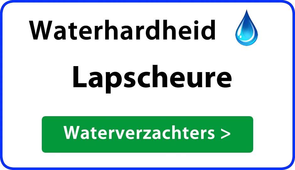 waterhardheid lapscheure waterverzachter