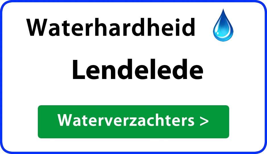 waterhardheid lendelede waterverzachter