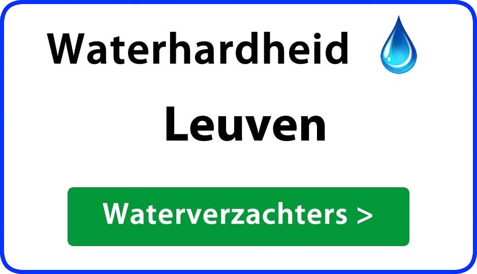waterhardheid leuven waterverzachter