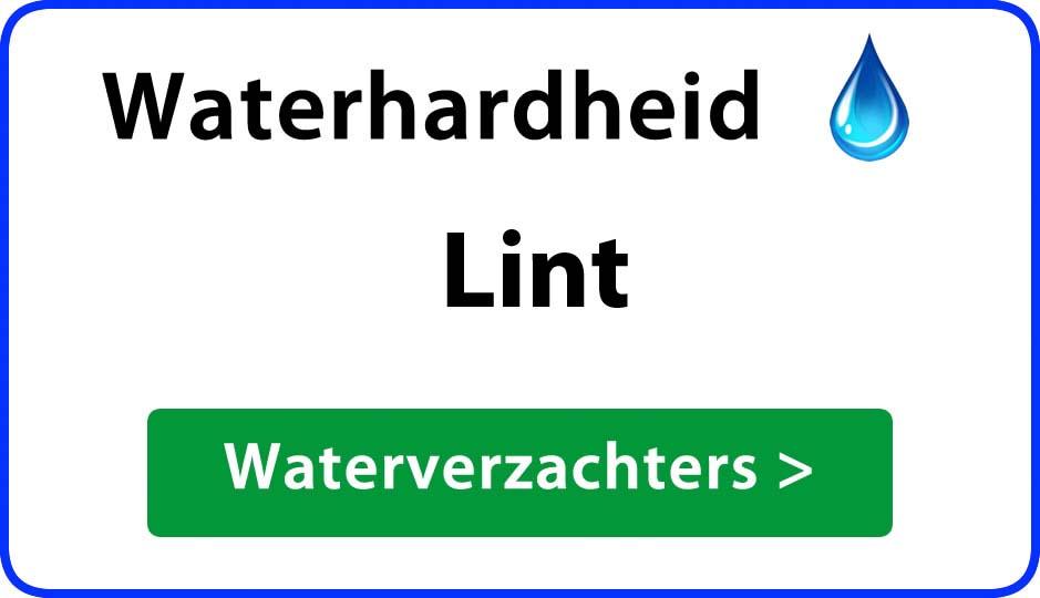 waterhardheid lint waterverzachter