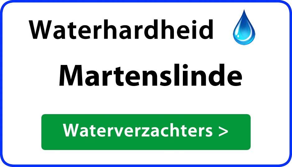 waterhardheid martenslinde waterverzachter