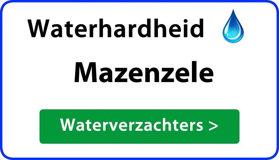 waterhardheid mazenzele waterverzachter