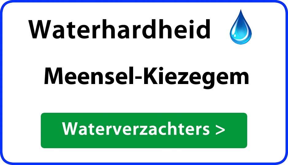 waterhardheid meensel-kiezegem waterverzachter