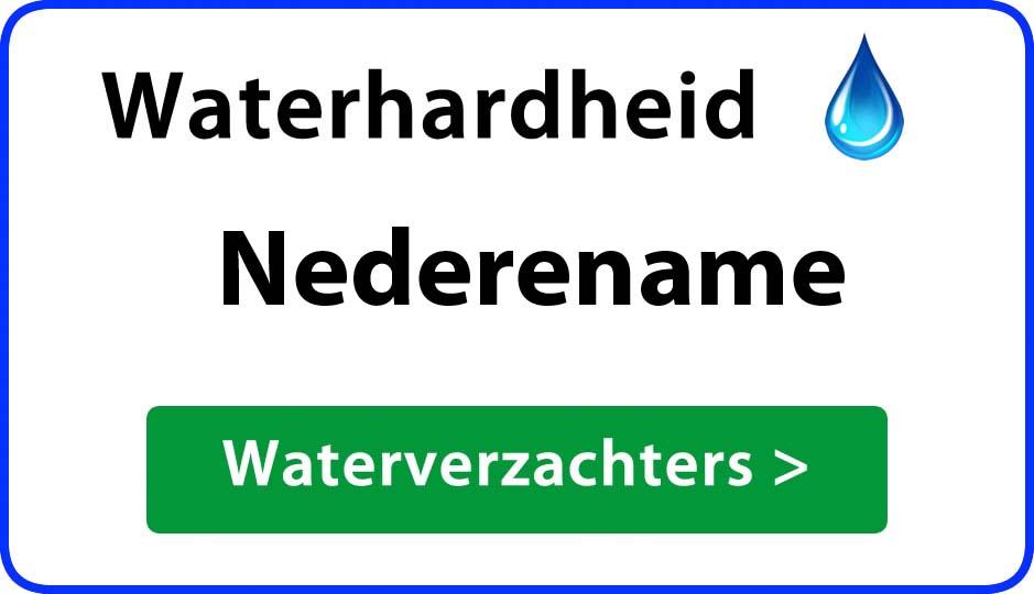 waterhardheid nederename waterverzachter