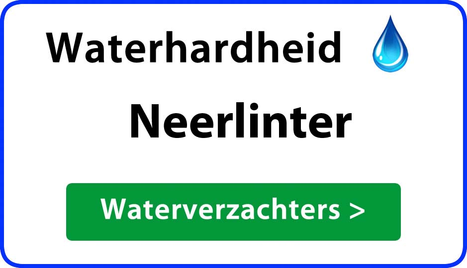 waterhardheid neerlinter waterverzachter