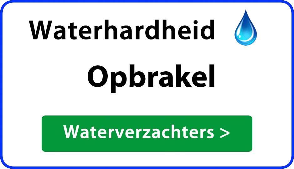 waterhardheid opbrakel waterverzachter