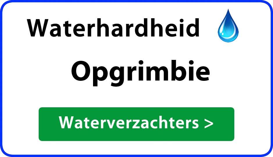 waterhardheid opgrimbie waterverzachter