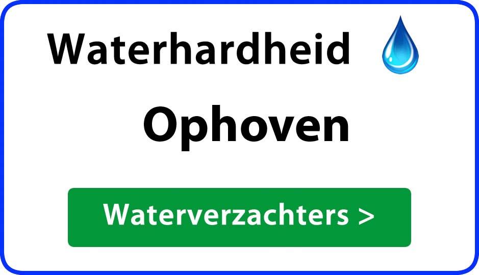 waterhardheid ophoven waterverzachter