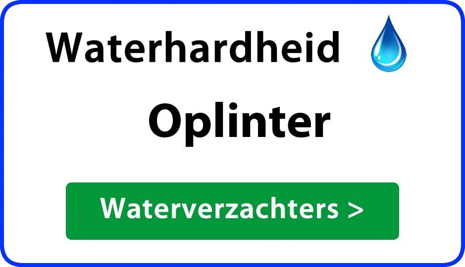 waterhardheid oplinter waterverzachter