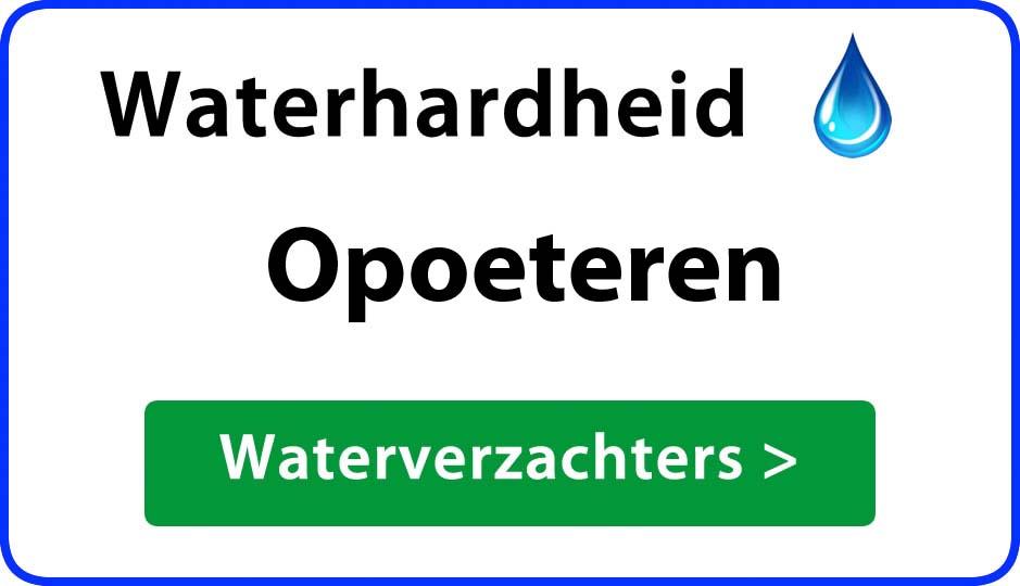 waterhardheid opoeteren waterverzachter